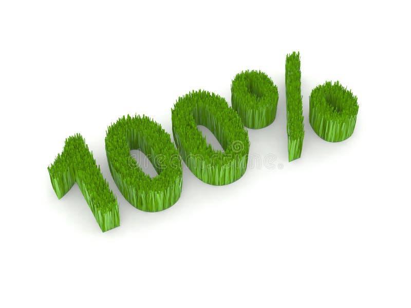100绿色百分比 库存例证