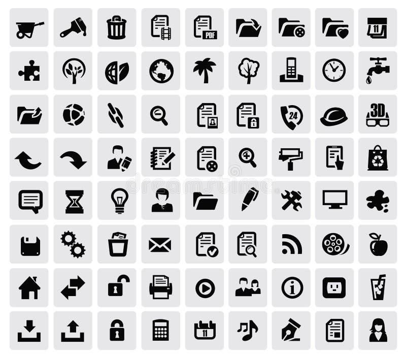 100 ícones da Web ilustração do vetor
