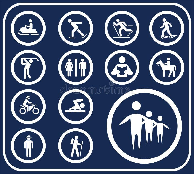 100 установленных pictographs людей кнопок d бесплатная иллюстрация