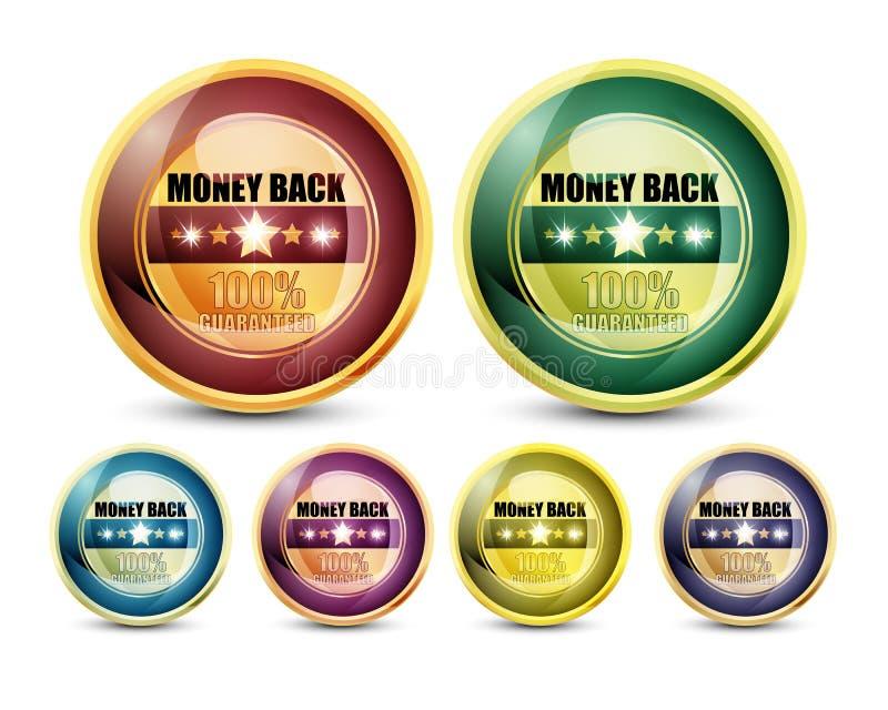100%保证的货币返回 皇族释放例证