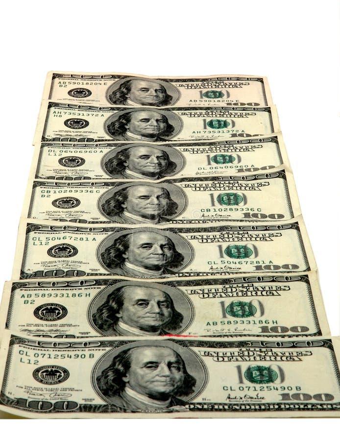 $100.00 rekeningen stock foto's