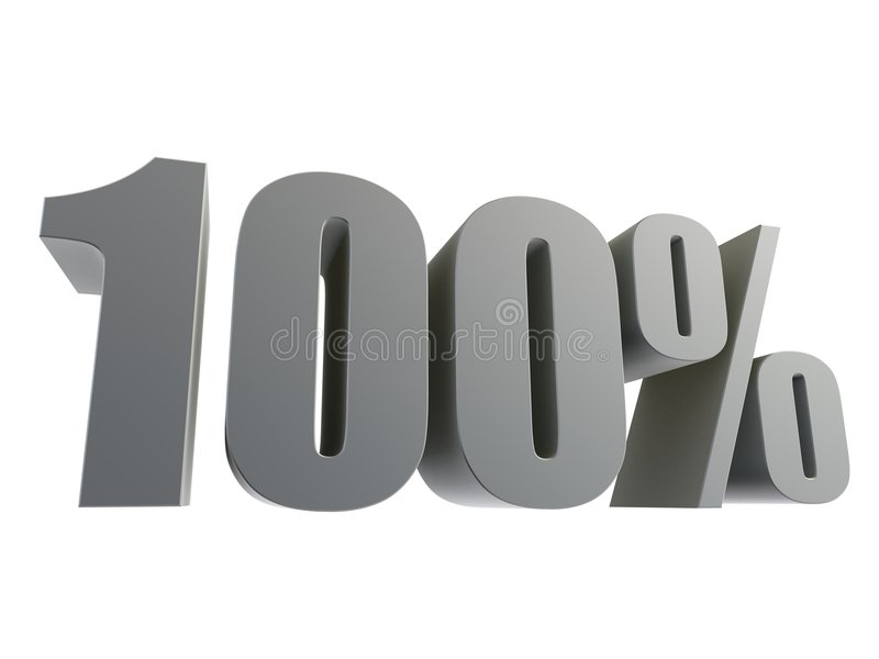 100% ilustração stock