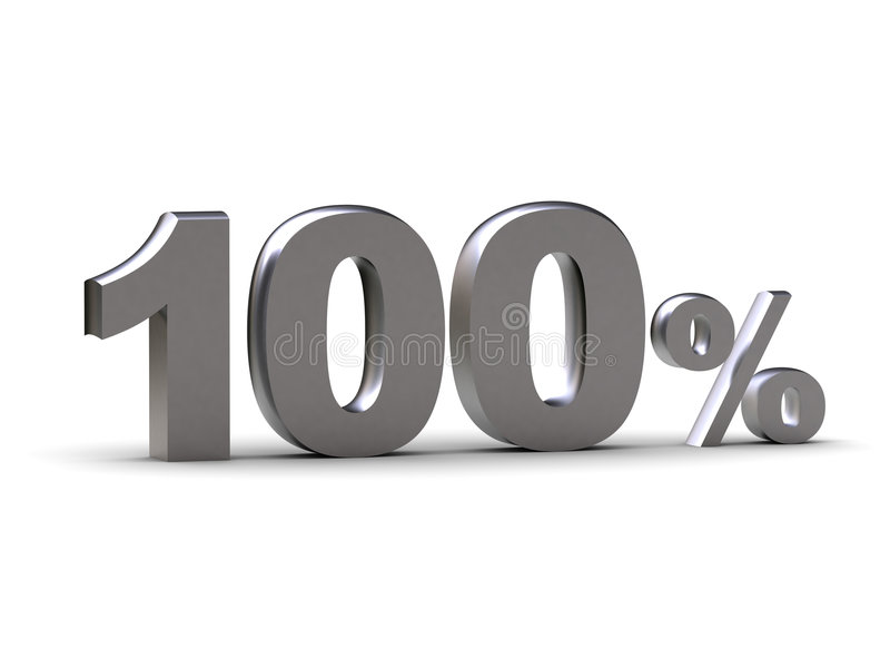 100 %. The image represents discount - 100 % (can be used for printing and web royalty free illustration
