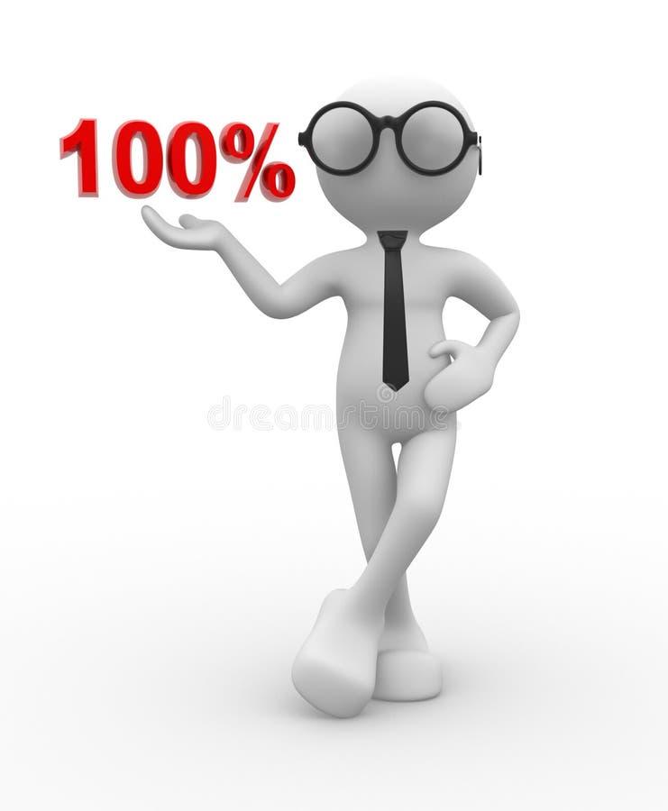 100% illustrazione vettoriale
