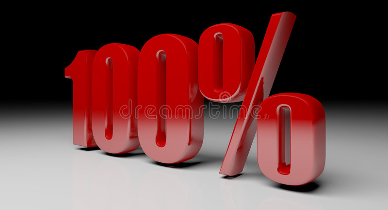 100% 3d tekst royalty-vrije illustratie