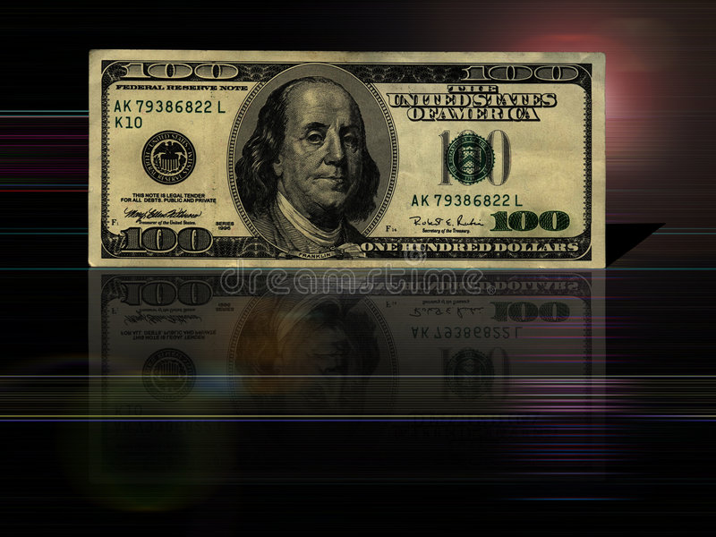 $100 bill background royalty free illustration