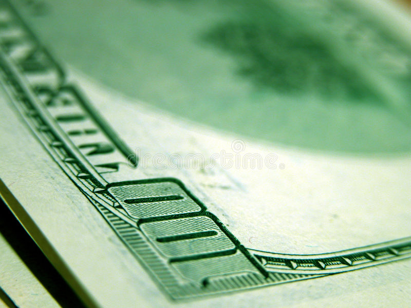 100 billdollar royaltyfri fotografi