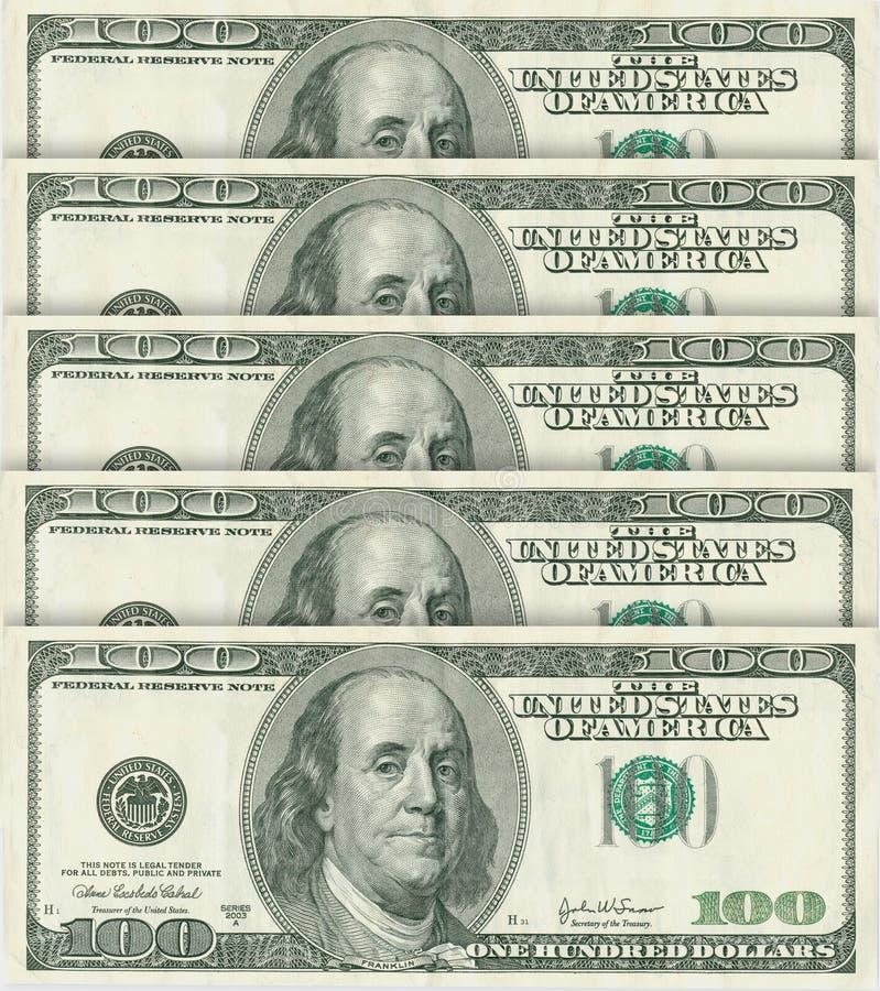 100 billets de banque du dollar photographie stock