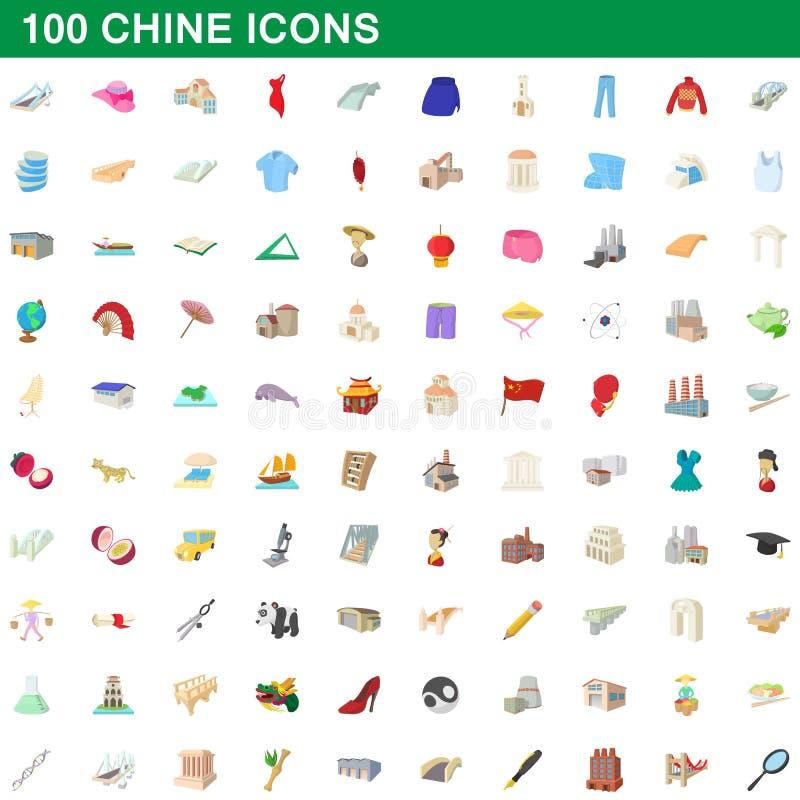 Free 100 Chine Icons Set, Cartoon Style Stock Image - 93046841