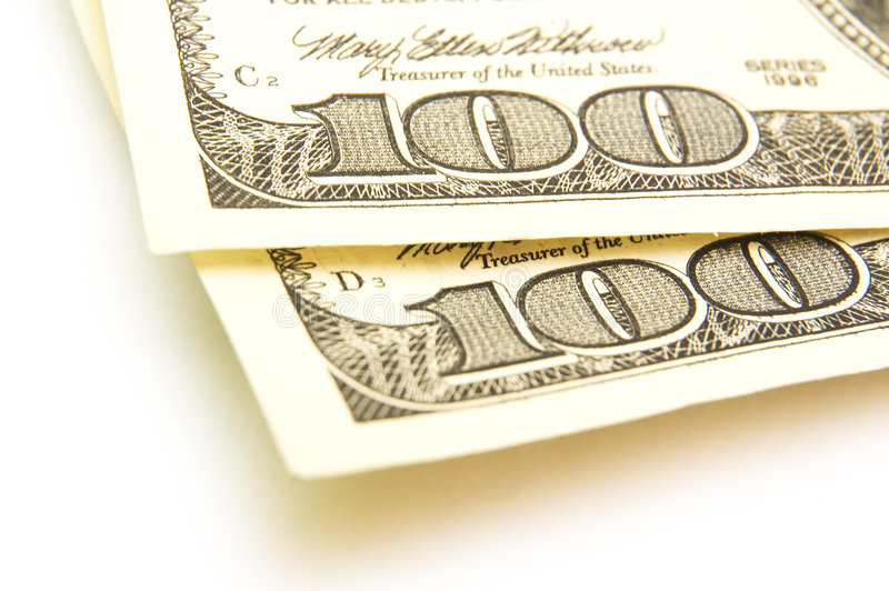100 cuentas de dólar imagen de archivo libre de regalías