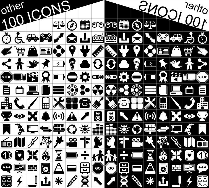 Download 100 Czarny I Biały Sieci I Zastosowań Ikon Ilustracja Wektor - Ilustracja złożonej z połączenie, glassful: 28966251