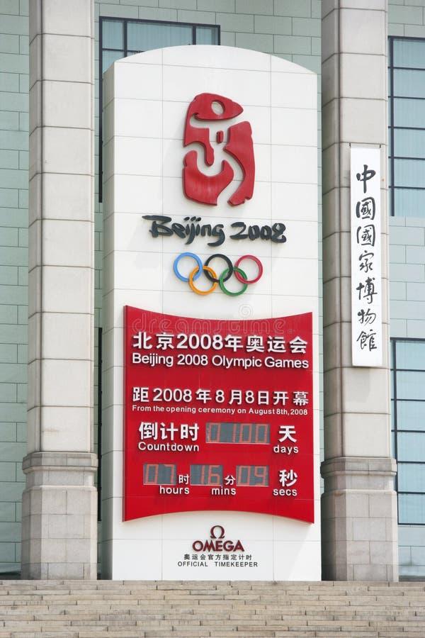 100 dagen verlaten tot Olympics in Peking royalty-vrije stock fotografie