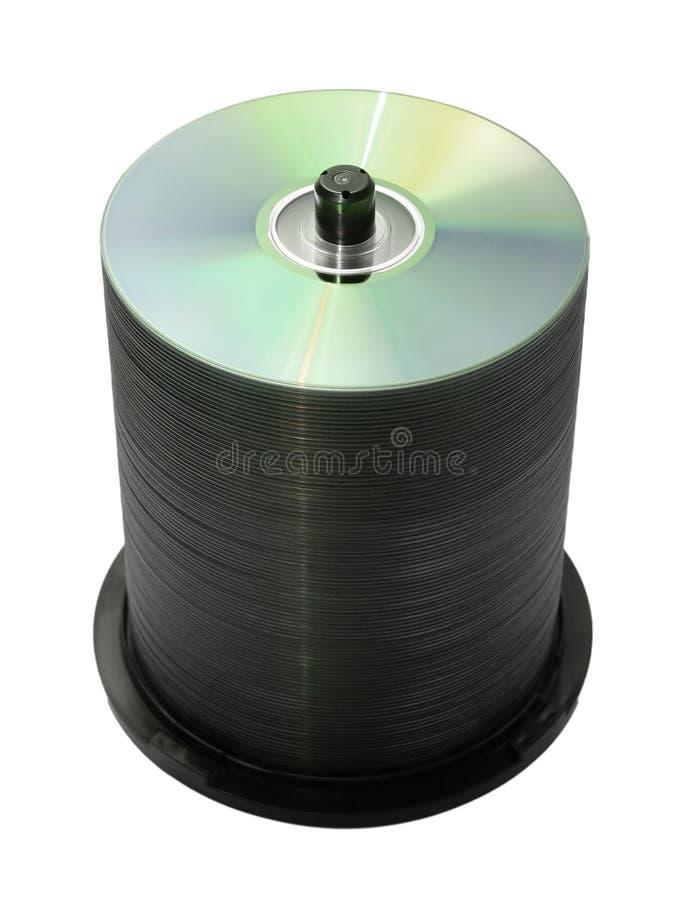 100 Discos Aislados Foto de archivo libre de regalías