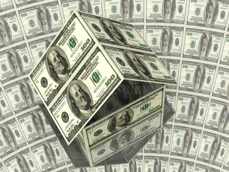 100 dolarów to dom royalty ilustracja