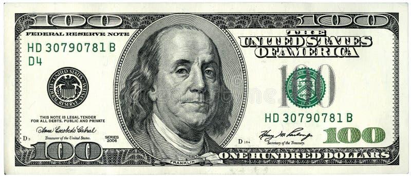 100 dollar royaltyfria foton