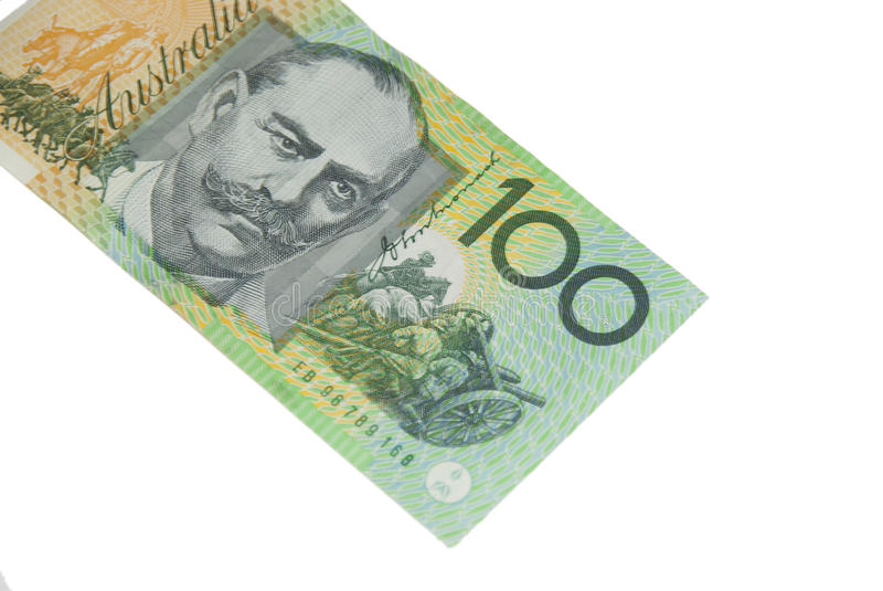 100 Dollar-Australierbanknote lizenzfreie stockfotografie