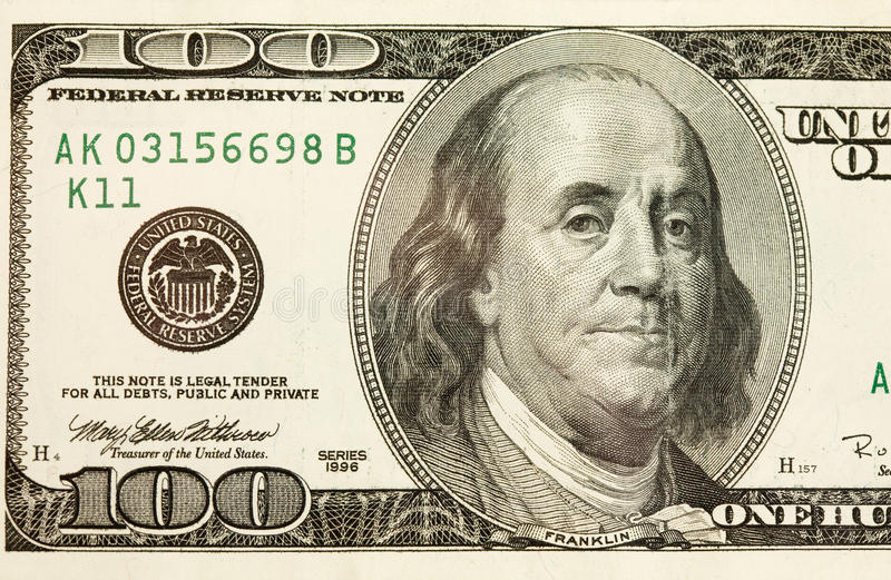 Download 100 Dollar Bill Abstract stock photo. Image of green - 16784020
