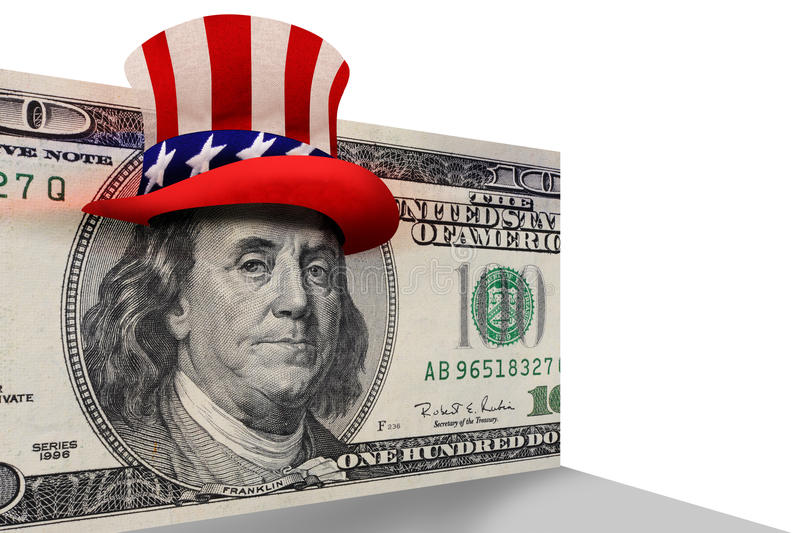 Download 100 Dollar Bill With Top Hat Stock Photo - Image: 26082580