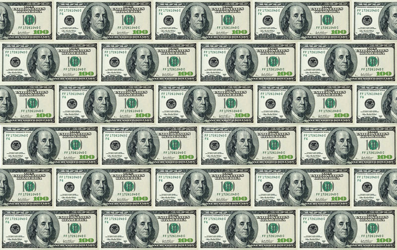 Download 100 Dollar Bills Background Stock Image - Image: 10496909