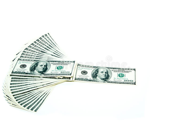 Download 100 dollar bills fan stack stock photo. Image of objects - 29001542