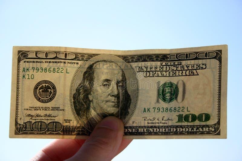 100 dollari di banconota immagine stock libera da diritti