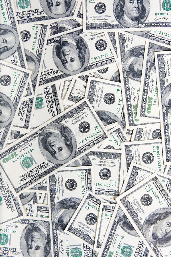 Download 100 dollars banknotes stock photo. Image of funds, loan - 15091778