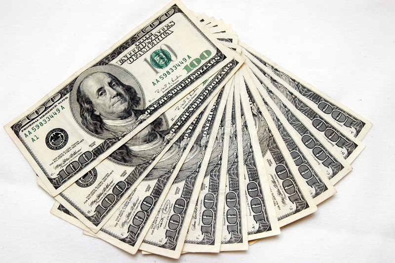 100 Dollars Bills Stock Photography