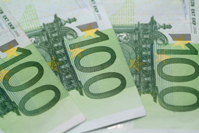 100 Euro obrazy royalty free