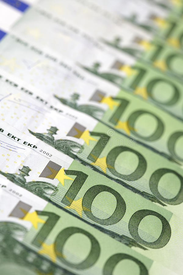 100-Euro Bills Royalty Free Stock Photos