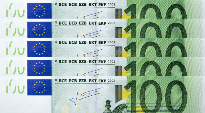 Download 100 Euro bills stock image. Image of money, pocket, pile - 26896259