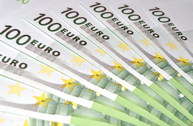 Download 100 Euro money banknotes stock photo. Image of profit - 27217456