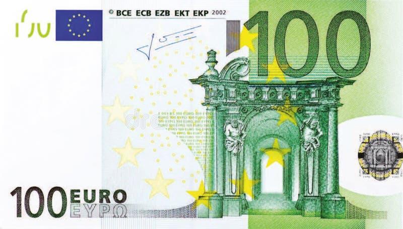 100 Euro notatka obraz stock