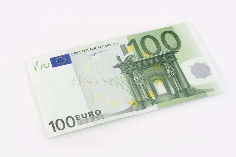 100 euro rechnung stockfoto bild von gr n ablage wei. Black Bedroom Furniture Sets. Home Design Ideas