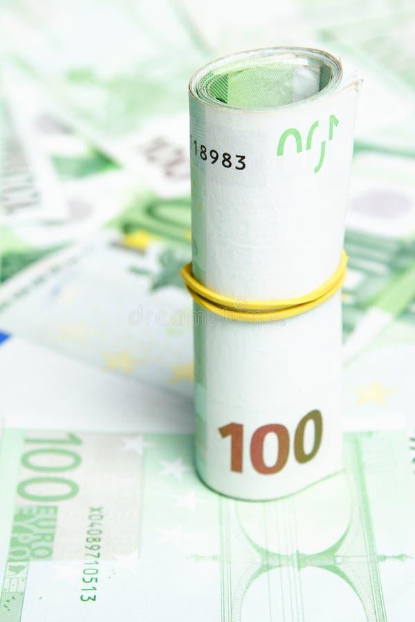 100 euro Rekeningen stock foto