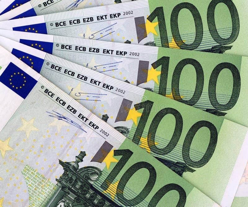 100 Euros Background Royalty Free Stock Photography