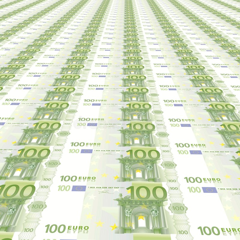 Download 100 euros Background stock illustration. Illustration of financial - 7821162