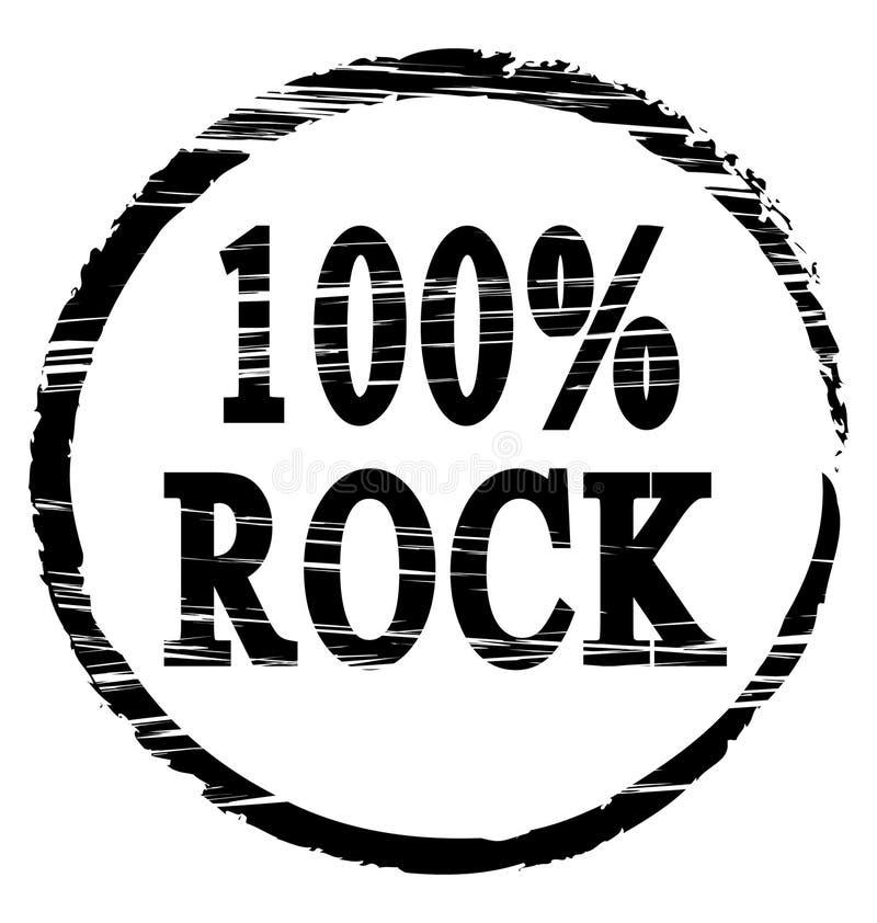 100%-Felsen stock abbildung