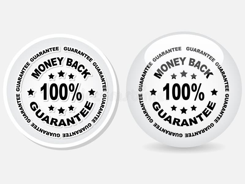 100% GARANTIE-Kennsatz stock abbildung