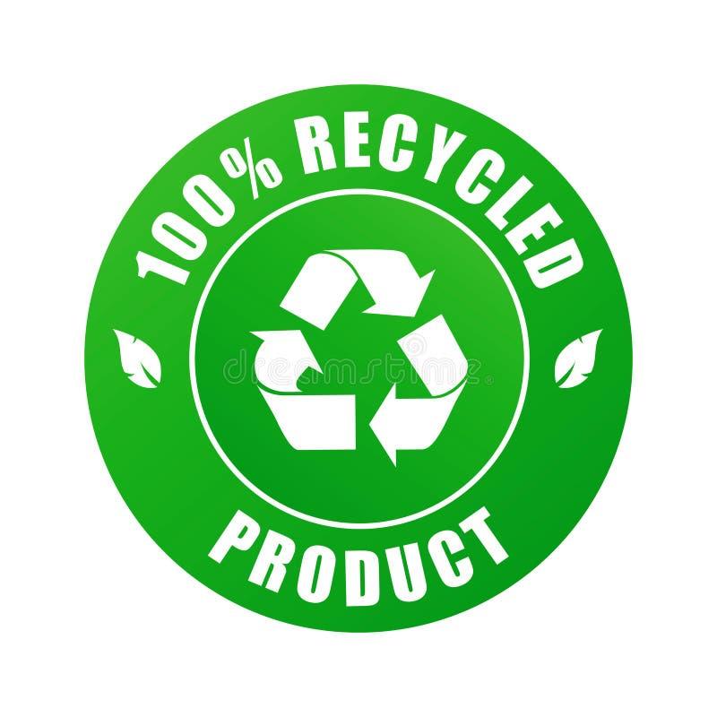 100% gerecycleerd product (vector) royalty-vrije illustratie