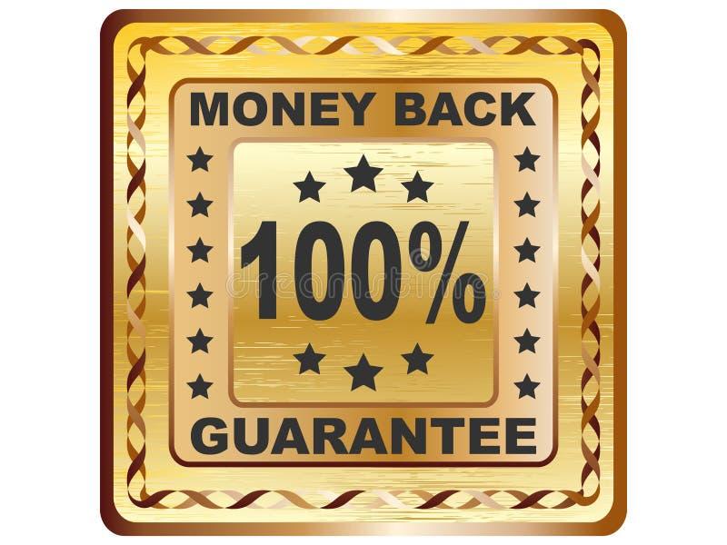 100 % GUARANTEE label royalty free illustration