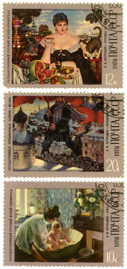 Download 100 Jahre Seit Der Geburt Von Boris Kustodiev Redaktionelles Stockfotografie - Illustration von ansammlung, kultur: 26361122