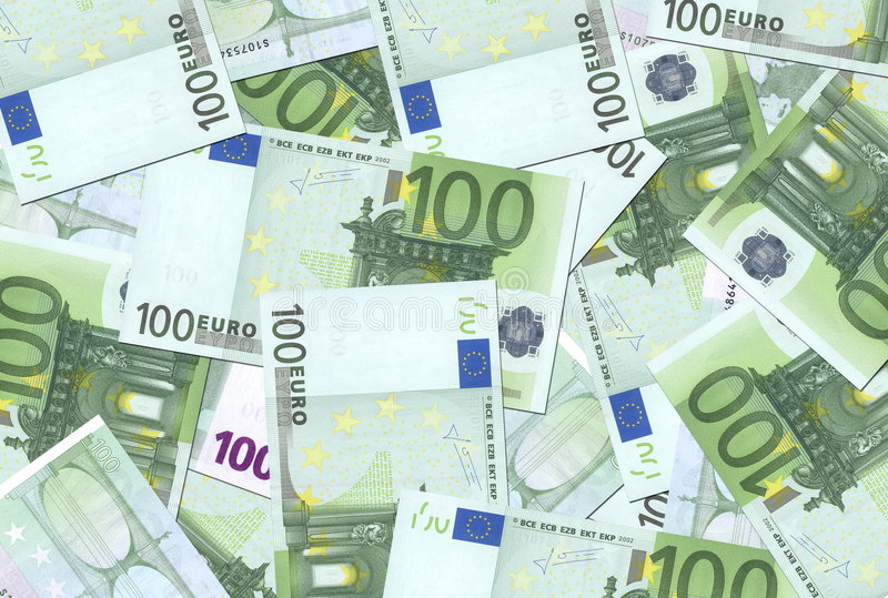 100 konsystencja euro notatek. zdjęcia stock