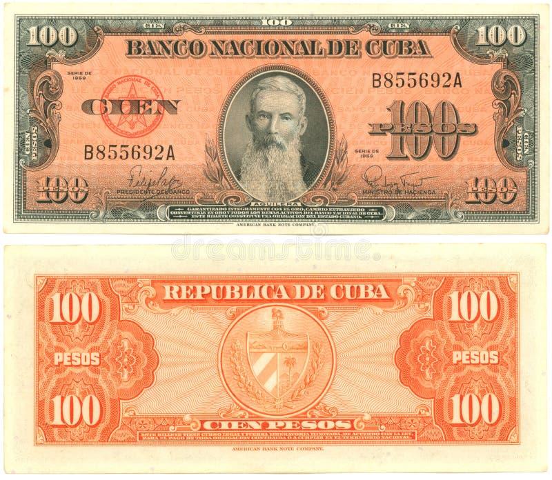 100 Kubanische Pesos Stockfotos