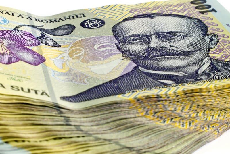 100 lei румынско стоковая фотография