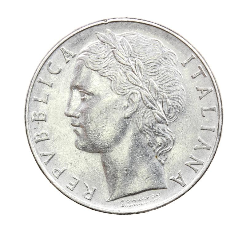 100 Lire Coin Of Italy Of 1975 Stock Images