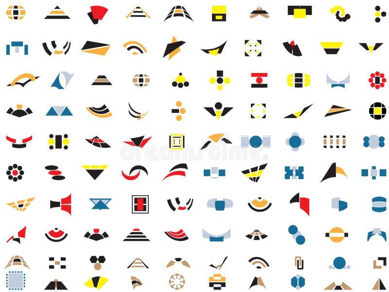 100 logotipos e elementos do vetor foto de stock royalty free