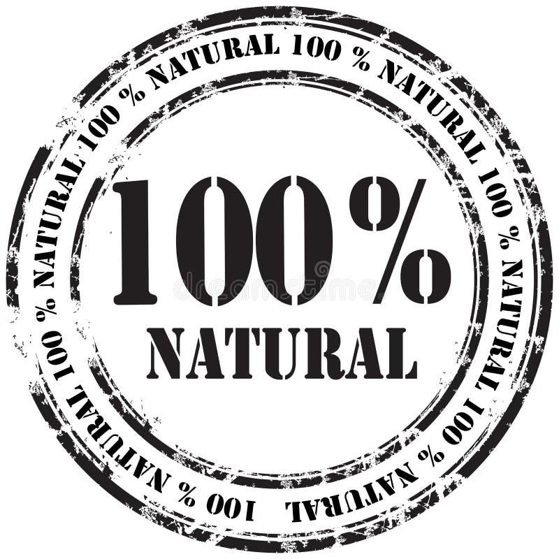 %100 natural grunge rubber stamp background stock illustration