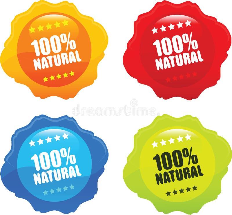 100% Natural Organic Stamp Vector royalty free illustration