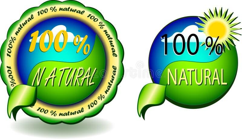 100 % natural - seals vector stock illustration