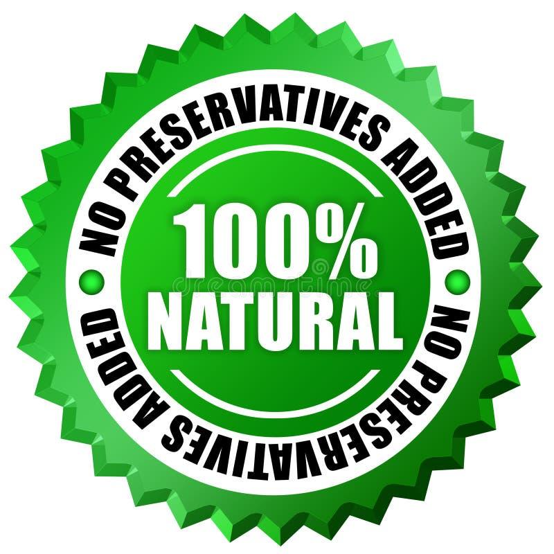 100 naturalny ilustracja wektor